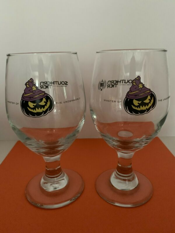 Halloween Warlock glass goblets, Southern Tier Brewing Co, set of 2, NEW! Rare!
