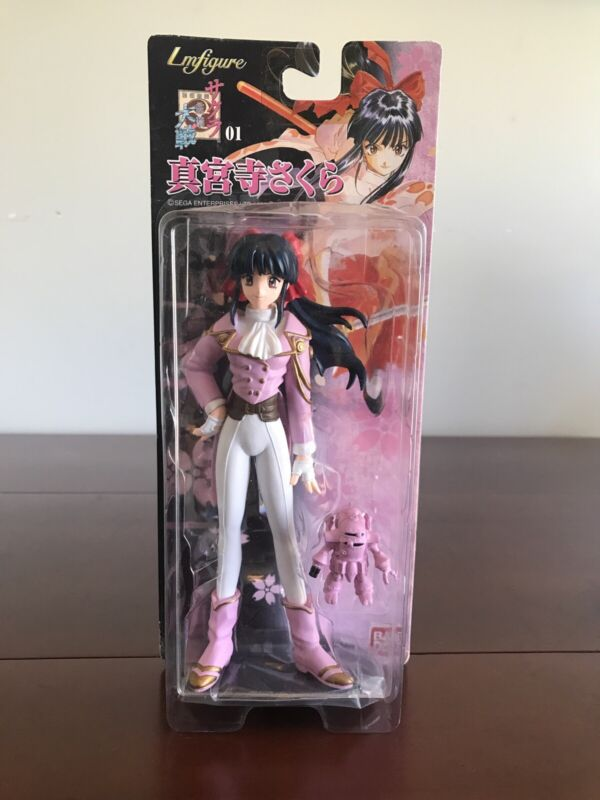 Sakura Wars Sakura Shinguuji Figure Sega Ban Dai 1997 Sealed New!! Rare Toy!!!