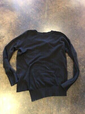 Tomas Maier Black Cotton Cashmere Back Strap Sweater XS 2