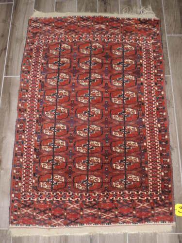 3x5ft. Antique Turkoman Bokharra Wool Rug