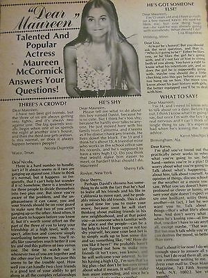 Maureen McCormick, The Brady Bunch, Full Page Vintage Clipping
