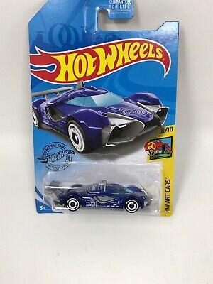 Hot Wheels | 2019 HW Art Cars - Mach Speeder 229/250 | New - CASE P