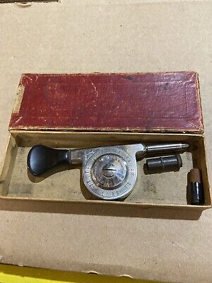 Vintage Starrett 106 Speed Indicator W Box Machinist Tool