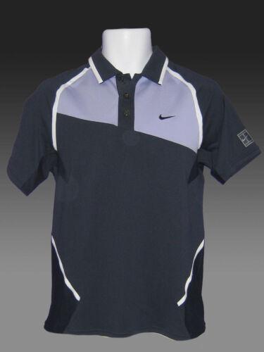 New NIKE TENNIS DriFit Polo Shirt Navy Blue Lavender S