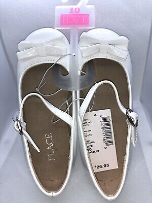 The Children's Place Dress Shoes, White. NEW - White Childrens Dress Shoes