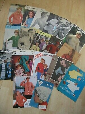 BUNDLE OF KNITTING PATTERNS ADULT/CHILD/BABY/DOLL CLOTHES VARIOUS PLY