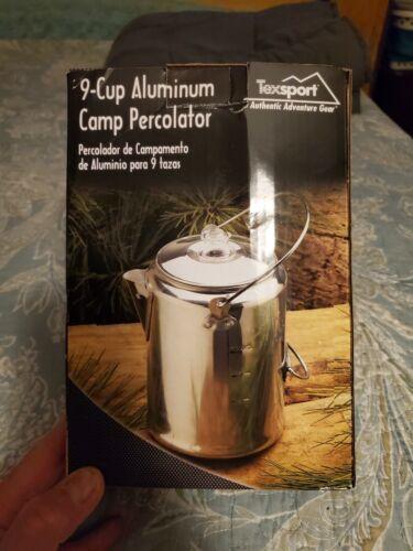 Texsport Aluminum 20 Cup Percolator Camp Camping Coffee Tea