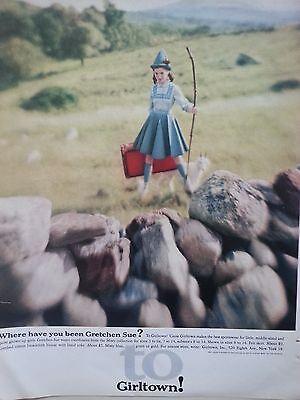 1960 Girltown Childrens Clothing Sportswear Misty Collection Original Fashion Ad