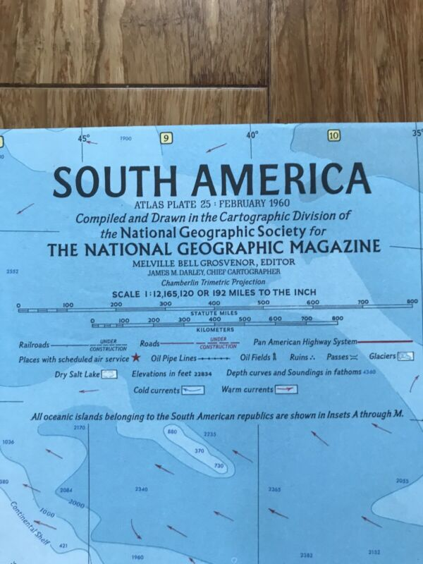 1960 (Feb) South America; National Geographic; Excellent Condition