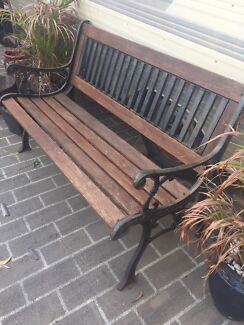 Wrought Iron Outdoor Garden Park Bench Part 83