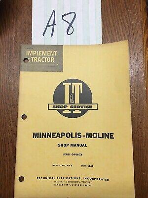Minneapolis-moline Gb Ub Zb Tractor It Shop Repair Manual Mm-6