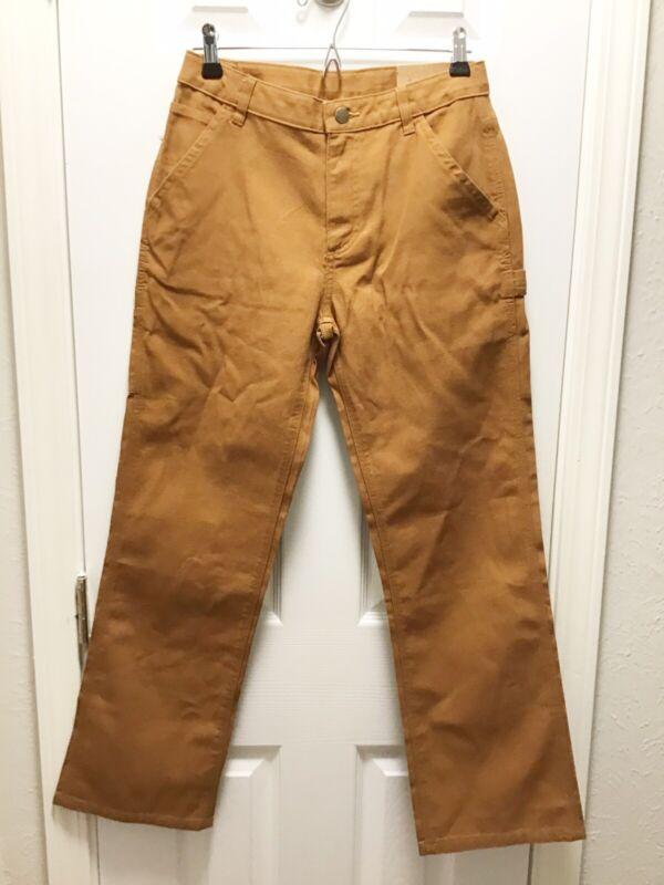Carhartt NWT Boys Size 14 Brown Carpenter Straight Jeans