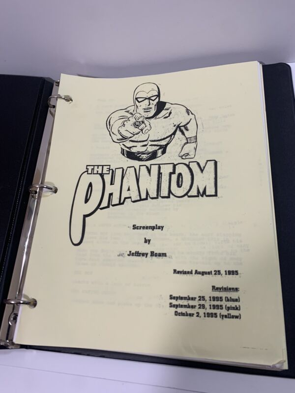 THE PHANTOM 1995 Movie Shooting Script, COLORED PAGES, Jeffrey Boam, Lee Falk