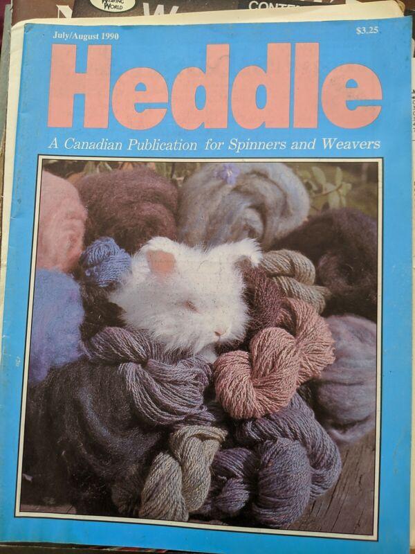 Heddle July/Aug 1990 WEAVING SPINNING LACE LICHENS ANGORA CANADA MAGAZINE