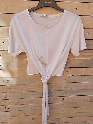Womens White Zara T-Shirt - Size Medium (12)