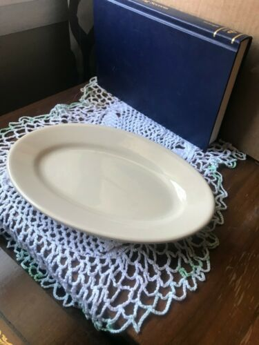 Vtg Nice BUFFALO CHINA CAFE Cream Tan RESTAURANT WARE SM PLATTER 6.50 X 9.50 in