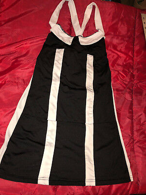 NAUGHTY SEXY WOMAN HALLOWEEN COSPLAY COSTUME BEETLEJUICE VERY SHORT DRESS STRAP ](Beetlejuice Halloween Costume Female)