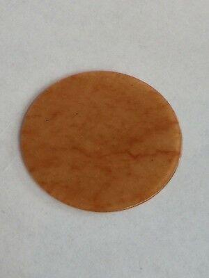 Genuine Gemstone Watch Dial/Disc - Orange Aventurine 40 MM