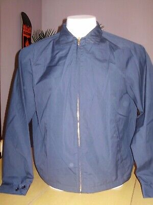 VINTAGE DEADSTOCK CAMPUS NAVY BLUE JACKET classic style LARGE, used for sale  Shipping to India
