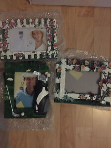 Picture frames- golf and flowers