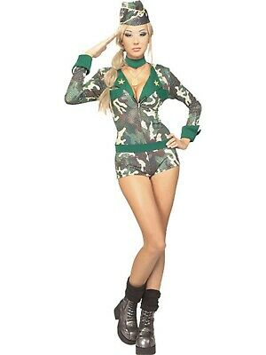 Rubies Costume Company Sexy Wishes Army Girl Costume #888124 Women's Outfit - Party Co Costumes