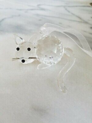 Crystal Cat Figurine from the Czech Republic