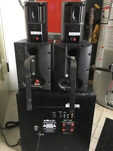 NEED GONE Home Theatre Speakers and Sub Set No Centre Channel