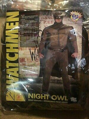 Night Owl Halloween Costume (NIGHT OWL WATCHMAN ADULT MENS PLUS SIZE 46-52 HALLOWEEN COSTUME Rubie's)