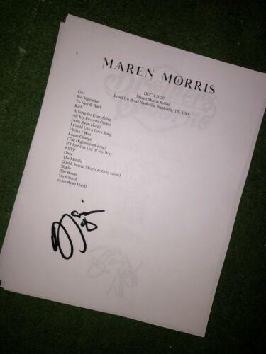 Maren Morris Signed setlist reproduction