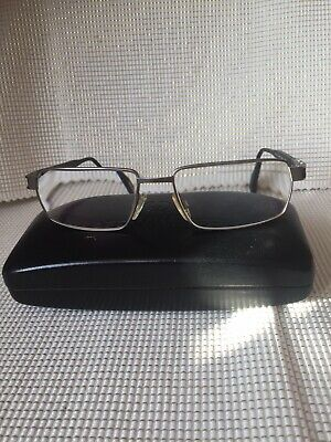 Herrenbrille Eschenbach Titanflex 821022 30 145Rechteckig gunmetall schwarz.