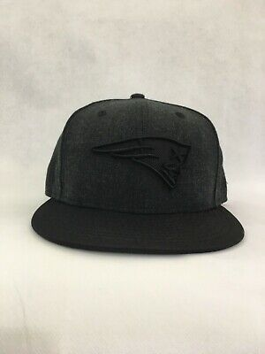 New England Patriots New Era 59fifty Fitted Hat Black 73/8. C6/2