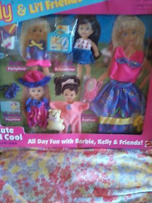 Barbie Baby Kelly Tommy FASHION Pink Purple Pajamas Romper Dress CLOTHES SHOES