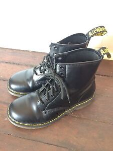 Doc Martens NEAR NEW Black 8-hole New Farm Brisbane North East Preview