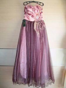 Grace Karin rosa lila Abendkleid Ballkleid Cocktailkleid Party Kleid Gr. 38 40