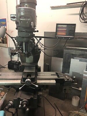Bridgeport Vertical Milling Machine - 48 X 9 Table - Variable Speed - 2 Hp
