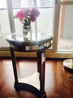 Beautiful one of a kind mirror end table! Custom made!