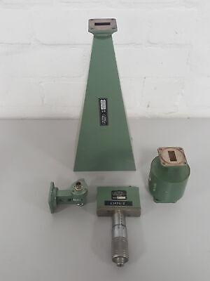 4x Mid-century Microwave Gear Waveguide Tube Horn Mc 1631b Mc1617a Mc1633