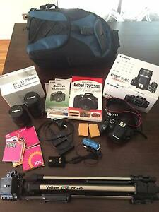 CANON 550D DSLR TWIN LENS CAMERA KIT WITH TRIPOD - BRAND NEW COND Alfred Cove Melville Area Preview