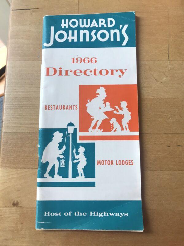 Howard Johnson's 1966 Directory, Host Of The Highways