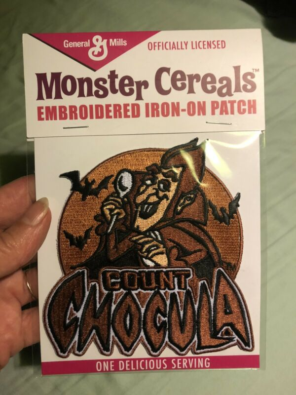 Count Chocula Embroidered Patch Brown Dracula General Mills Cereal Monster