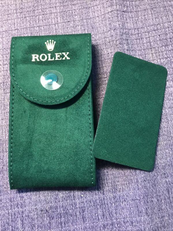 Genuine New style❗️Rolex service Velvet travel Pocket Pouch. W/ ⌚️support plate