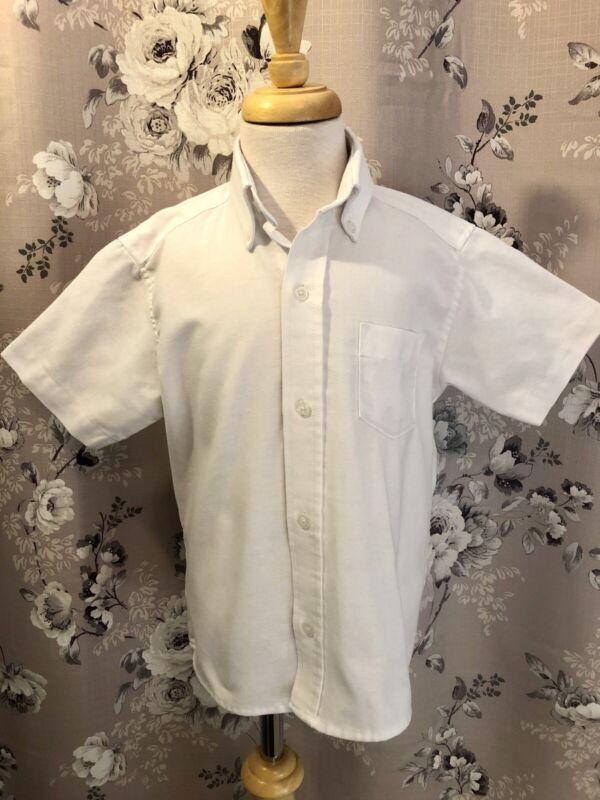 Flynn Ohara Uniform Lot Of 3 White Short Sleeve Button Down Shirts Youth 6