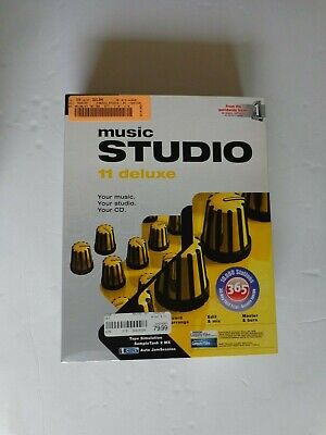 Magix Music Studio 11 deluxe For Windows (New! Factory sealed retail box)