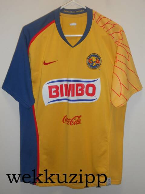 dd2e1bd4120 Club America FC home authentic Nike football jersey season 07/08