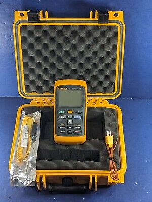 Fluke 54 Ii B Thermocouple Thermometer Excellent Screen Protector Hard Case