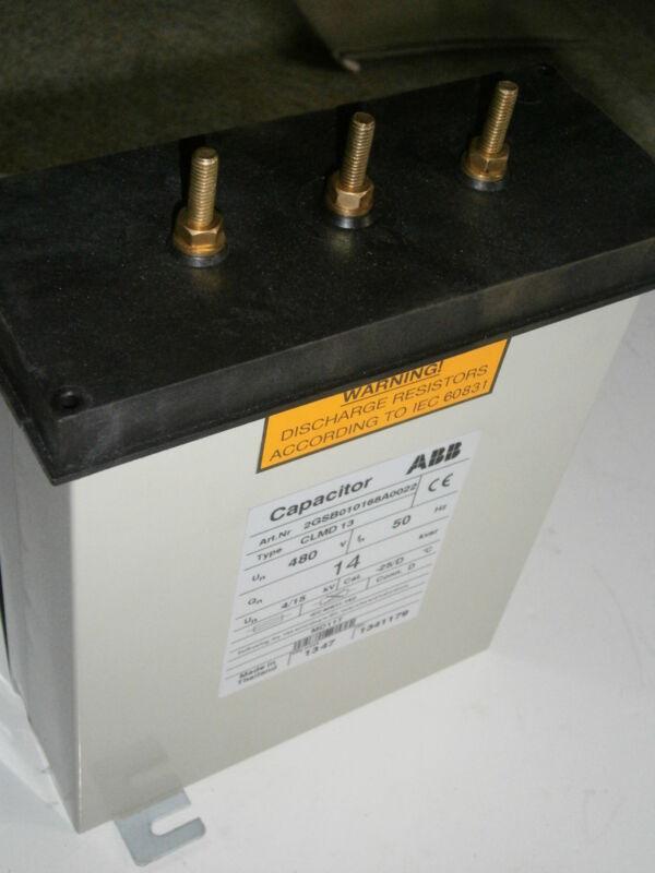 ABB INDOOR CAPACITOR CLMD 13  14KVAR 480V 50HZ 3PH NEW IN BOX 2013  QUANTITY