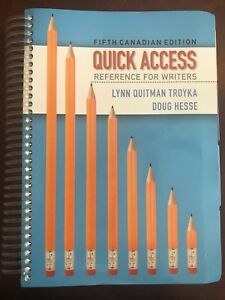 Pearson Quick Access Reference for Writers 5th Cdn Edition