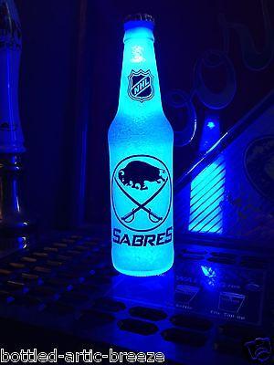NHL Buffalo Sabres Hockey 12 oz Beer Bottle Light LED Neon Bar Mens  Buffalo Sabres Bar