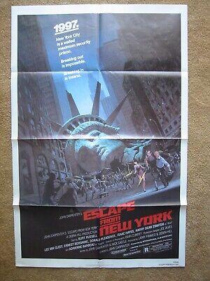 1981 Escape From New York Original 27x41 One Sheet call Me Snake  - $279.99