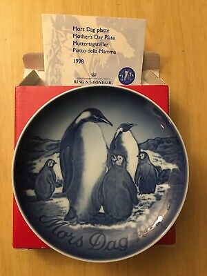 Bing /& Grondahl 1998 Mother/'s Day Plate NIB Emperor Penguin NEW IN BOX